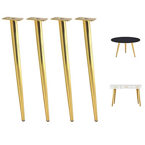 """YCMY Oblique Furniture Legs, 28"""" Heavy Duty Furniture Legs Tapered Coffee Table Legs Black DIY Office Desk Legs Perfect for Bench/Kitchen, 4 Pack"""