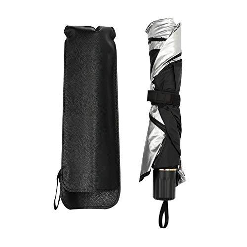 ooege OOE Coche Sombrilla Interior Ventana Delantera Paraguas Parasol Cubierta Protector de protección Solar Aislamiento de Calor Aislador de Parabrisas Accesorios (Color : 79x135CM)
