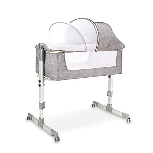 Check Out This Baby Crib Baby Bassinet Bedside Sleeper Bed Baby Cradle Baby Swing Rocking Bed Height...