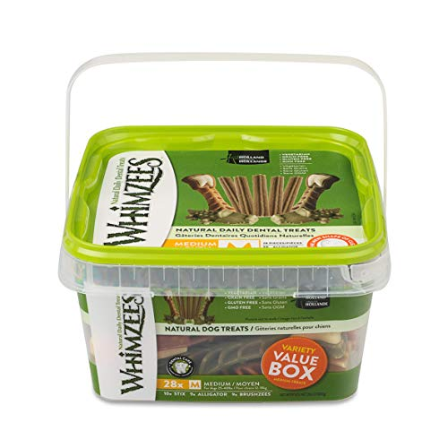 Whimzees 330048 Natural Variety Value Pack Medium or/Whgr/Wh, 29.6 oz,...