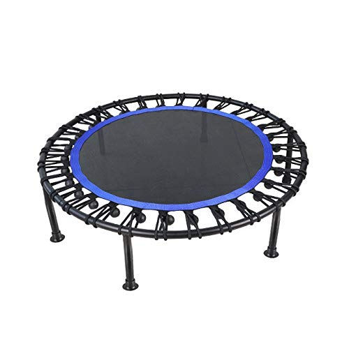 NANYUN Mini Oefening Trampoline voor volwassenen of kinderen - Indoor Fitness Rebounder Trampoline met veiligheidspad