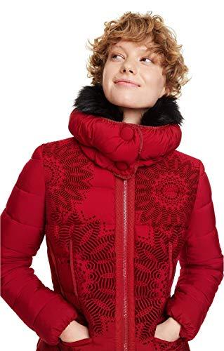 piumino 100 grammi donna desigual DESIGUAL PIUMINO CORTO DONNA PADDED KOMODERI 18WWEWAF 40 (m) rosso