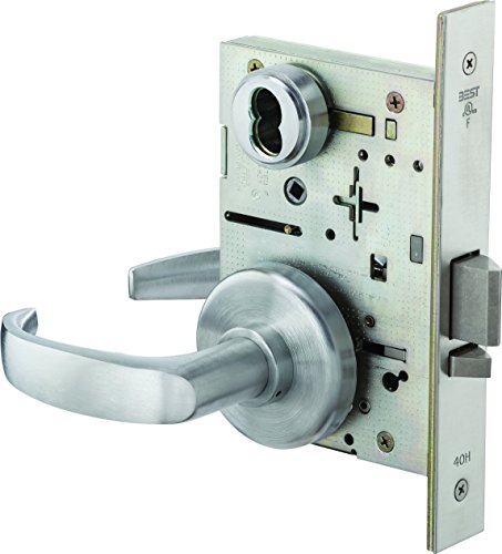 BEST Access Systems 45H7R14H626 45H Classroom Mortise Lock, Steel