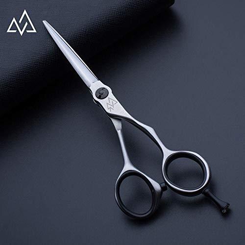 Ciseaux de coiffure à gros trou de doigt enduits noirs