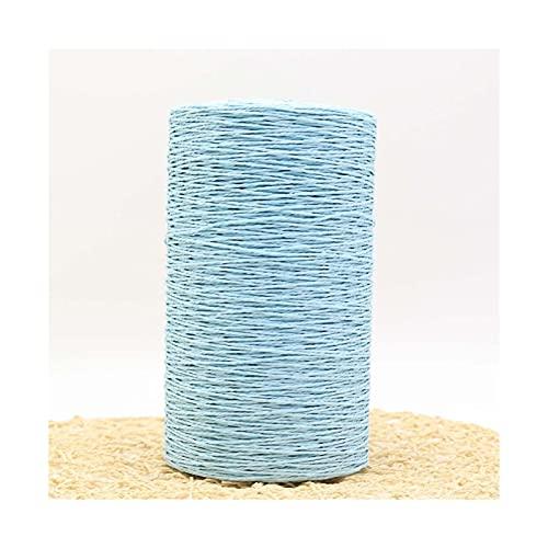 500 g/m² de verano de rafia paja natural de ganchillo de punto de ganchillo de lana de lana...