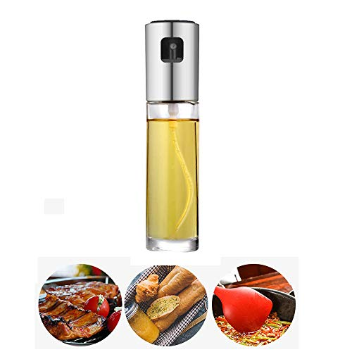 WINCANG Oil Sprayer,Glass Olive Oil Spray Bottle Cooking,Oil Dispense Sprayer,Olive Oil Spray Mister for Cooking Versatile Vinegar & Sauce Bottle Glass for Kitchen,BBQ,Cooking,Baking,Roasting,Grilling