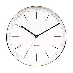 Karlsson Wall Clock, Steel, White, One Size