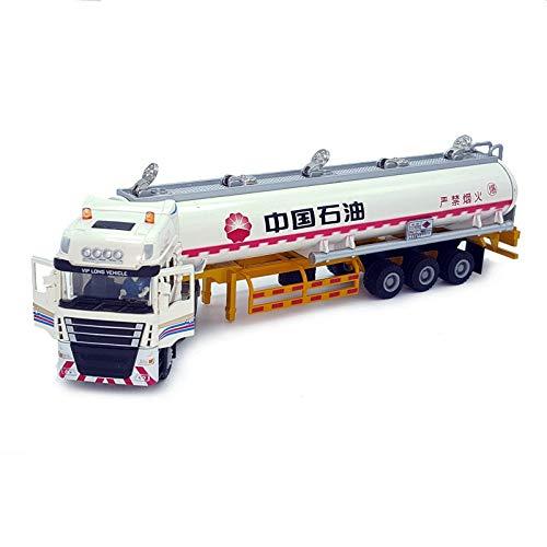 Bleyoum Vehículo de construcción 1:50 Cisterna De Aleación Sinopec China Aleación De Petróleo Camión De Ingeniería Modelo De Vehículo De Transporte Camión Semirremolque Coche De Juguete W112