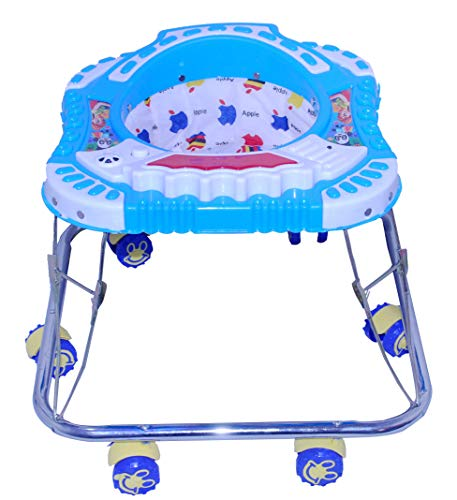 ODELEE Musical Foldable Activity Walker for Baby Kids (Sky Blue)