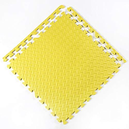 F-S-B 6 Tiles Puzzle Play Mat, tapetes de Espuma, EVA Interrocking Puzzle Ejercicio Mat para Entrenamientos de Equipos de Gimnasio, 60 * 60 * 2.5 cm,Amarillo