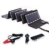 SUNKINGDOM Chargeur Solaire Pliable et Portable 60 W Pet avec Double Sortie (DC5521...