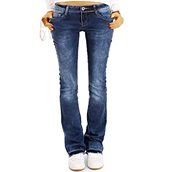 Be Styled Damen Bootcut Jeans Hüftjeans