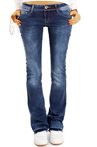 Be Styled Damen Bootcut Jeans Hüftjeans, Schlagjeans, Stretch Fit Passform j40g-2 38/M dunkelblau