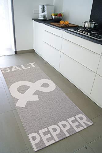 Küchenteppich Salt&Pepper grau 80x200 cm - günstiger Küchenläufer