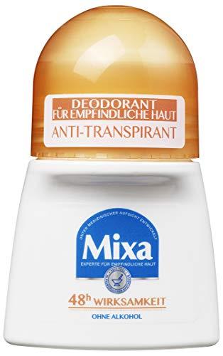 Mixa Anti-Transpirant Deodorant Roll-on, für empfindliche Haut, gegen Achselnässe, mit bis zu 48 h Wirksamkeit, hoher Schutz, 3er Pack (3 x 50 ml)