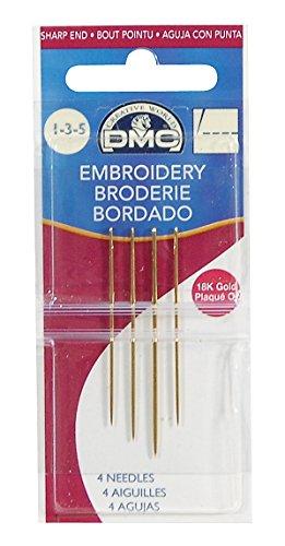 ディーエムシー エム シー DMC 18K Gold エンブロイダリー針 Sharp end サイズ:7~10 U613312