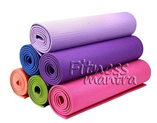Fitness Mantra Yoga for Gym Workout and Flooring Exercise 4MM Thickness (Long) - 1 Pcs
