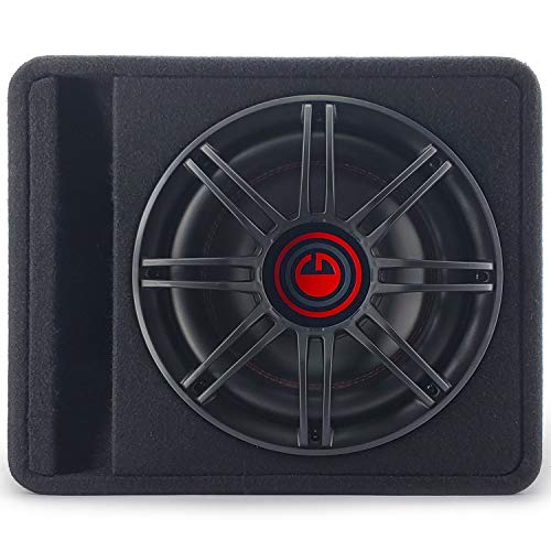 Gravity Audio G12BD1 Single 12' 1000W Loaded Warzone Competition Series Vented Subwoofer Enclosure Built in Amplifier 4 Ohm with High Premium Wood - 12 Inches - Universal Fit