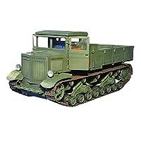 モデルおもちゃ1/25スケールソビエト砲兵トラクターキッズおもちゃとギフト、9.8インチx4.7インチ