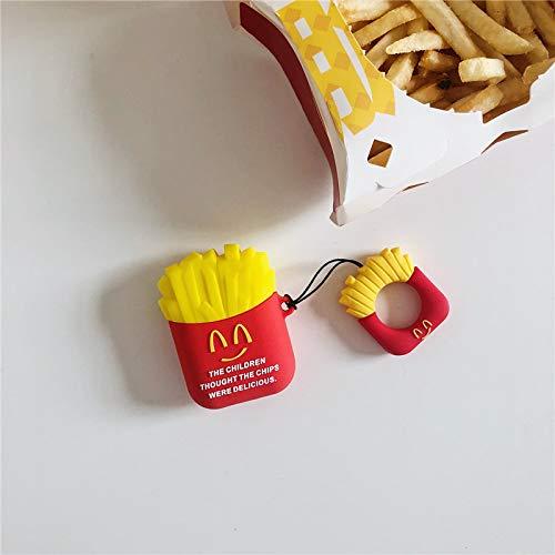 Airpods2-Schutzset McDonald's Burger Drahtloses Bluetooth-Headset Pommes-Frites-Silikon-Anti-Fall-Pommes-Frites Airpods 1 Generation 2 Generation Universal-Schutzhülle