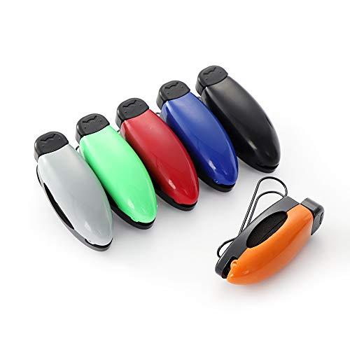 GQY auto zonneklep Clip/voor opknoping vaste leesbril, zonnebril, bril, universele mode auto accessoires Gray