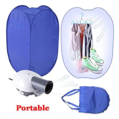 Electric Clothes Dryer, 800W Portable Electric Air Heater Clothes Dryer Rack Folding Drying Machine, Electric Air Drying Clothes Dryer Ventless Drying Machine Fast Clothing Dryer Heate with Rack