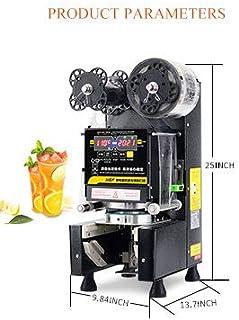 カップシーラー カップシール機 口径88/90/95/75mm自動カップシール機 デジタル制御 400-600カップ/時 お茶・コーヒー・ジュース タピオカミルクティー豆乳 など業務用110V (黒い)