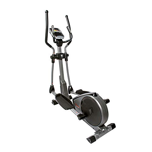 Product Image 12: Sunny Health & Fitness Magnetic Elliptical Trainer Machine w/Device Holder, Programmable Monitor and Heart Rate Monitoring, 330 LB Max Weight – SF-E3912, Silver