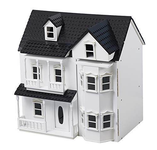 WUHUHAI Holzpuppenhaus Cottage Kid Dollhouse Classics Viktorianisches Puppenhaus mit Treppe Geeignet für Kinder ab 3 Jahren Fantasievolles Spiel