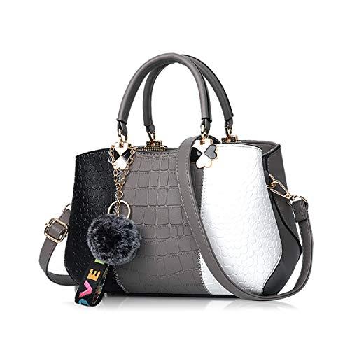 NICOLE & DORIS 2021 Neue Welle Paket Kuriertasche Damen weiblichen Beutel Handtaschen für Frauen Handtasche Dunkelgrau