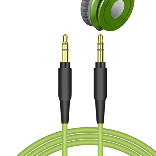 Geekria Audio Cable for Beats Solo HD, Solo2, Solo3, Beats Studio, Studio2, Studio3, Mixr Pro, Executive Headphones, 3.5mm Replacement Stereo Cord (Green 5.6ft)