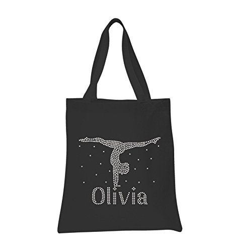Black Girls Bag Hand Stand Crystal Personalised Gymnastics Tote Bag Leotard Varsany