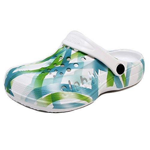 Damen Clogs Badeschuhe (54D) Badelatschen Pantoffel Pantoletten Schuhe Neu Größe 38, Farbe Grün