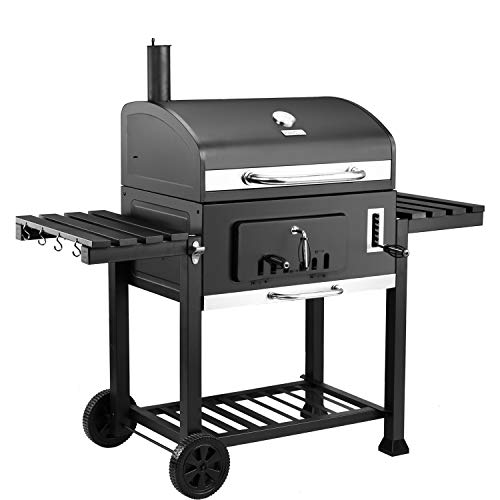 """Royal Gourmet CD2030 Charcoal Grill Large 30"""", Outdoor Barbeque, Backyard Cooking, Black"""