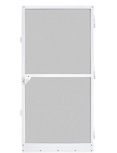 UISEBRT Insektenschutz Fliegengitter Tür Alurahmen 120x240cm, Weiß