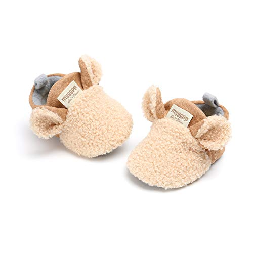 Zutano Cozie Fleece Baby Booties, Unisex Baby Shoes for Infants and Toddlers, 6M, True Navy Furry