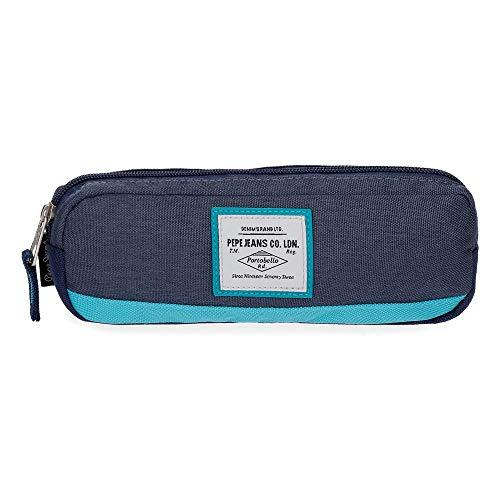 Pepe Jeans Molly Estuche Azul 22x7x3 cms Poliéster