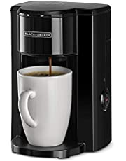 Black+Decker 330W 1 Cup Coffee Maker/Coffee Machine with Coffee Mug for Drip Coffee & Espresso, Black - DCM25N-B5, 2 Years Warranty