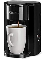 الة تحضير القهوة لصنع كوب واحد 330 واط من بلاك اند ديكر، مع كوب للقهوة بالتنقيط والاسبريسو، اسود - الموديل DCM25N-B5، ضمان لمدة عامين