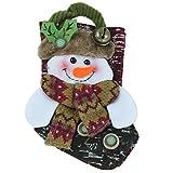 Tomaibaby Bolsa de Medias de Navidad Bolsa de Regalo PU Muñeca 3D Bolsa Decoraciones para Árboles Colgantes Titulares de Regalo Bolsas de Efectivo para Fiestas Niños
