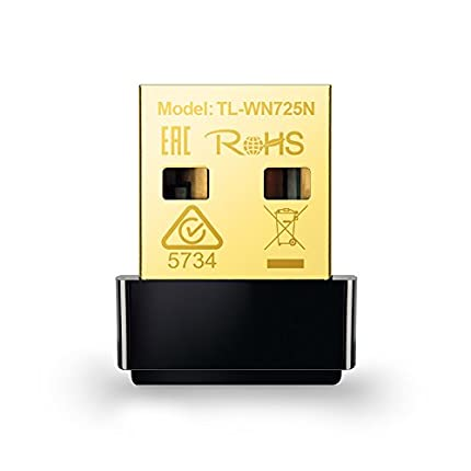 TP-Link TL-WN725N Adaptador WiFi USB inalámbrico Nano, Compatible con Raspberry Pi, N 150 Mbps, Botón WPS, AP soft Windows10/8.1/8/7/XP, Mac OS X 10.7-10.11, Linux, negro