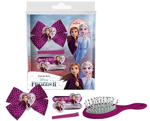Juego de accesorios para el pelo con cepillo Frozen