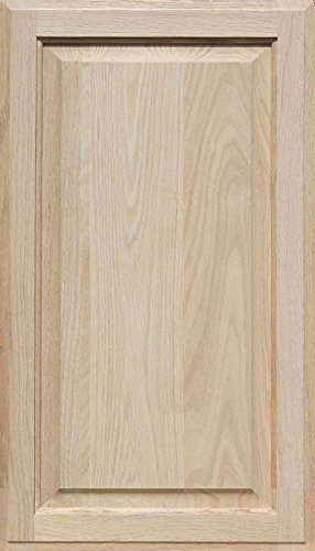 Unfinished Oak Cabinet Door, Square with Raised Panel by Kendor 28H x 16W