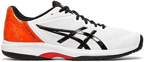 ASICS Men's Gel-Court Speed Tennis Shoes, 7M, White/Black