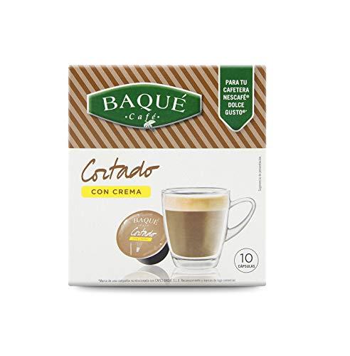 Cafés Baqué Capsulas Compatibles Dolce Gusto Café Cortado con Crema 40 Unidades 195 g