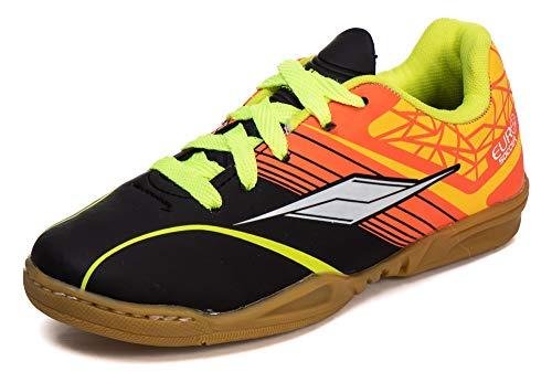 Chuteira Infantil Futsal 4203I - AS032 Cor:Preto - Laranja;Tamanho:28