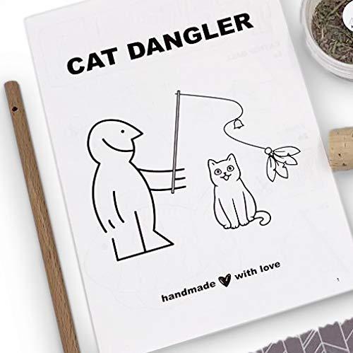DIY Spielangel Bastelset für Katzen. Handgemacht aus Deutschland. Mit Federanhänger und Katzenminze