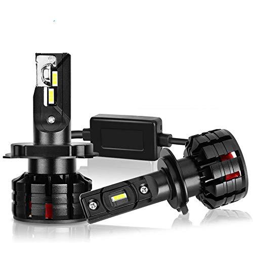 Zyx Bombilla Delantera del Coche, H4 LED H7 LED H1 H3 H8 H8 HB3 9005 HB4 9006 Lampada Lámpara de Niebla 16000lm Bulbo de Coche Turbo,H4