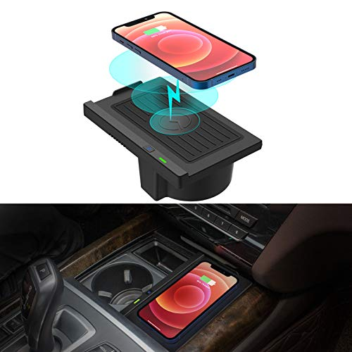 CreekT Wireless Charger for BMW X5 2014-2018, X6 2015-2019, Wireless Charging Pad for BMW F15 F16 Accessories 2018 2017 2016 2015 2014