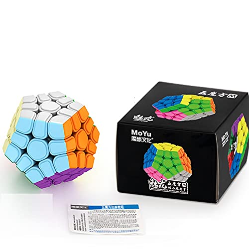 FunnyGoo MoYu MoFangJiaoShi Cubing Classroom Meilong M Versión 3x3 12 Superficie Gigaminx 3x3x12 megaminx M Magic Cube sin Pegatinas + un Soporte de exhibición de Cubo